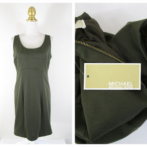 MICHAEL Michael Kors Dark Green Sheath Dress NWT